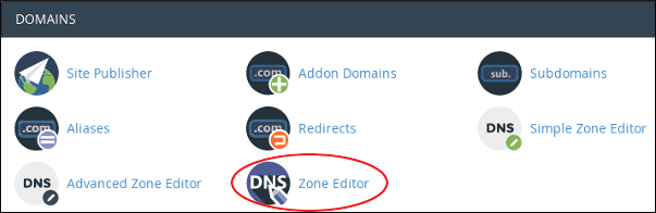 How to add a record with the DNS Zone Editor in cPanel